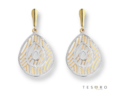 Tesoro Yellow & White Gold Dangle Earrings