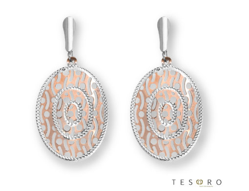 Tesoro Rose & White Gold Dangle Earrings