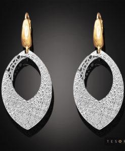 L'Aquila White & Yellow Gold Dangle Earrings