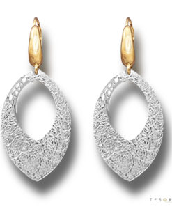 L'Aquila White & Yellow Gold Dangle Earrings