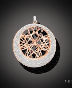 Tesoro Vacone Rose Coated Silver Pendant