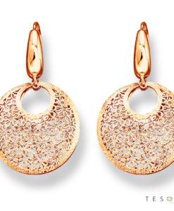 Prato Rose Gold Dangle Earrings