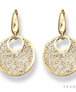 Prato Yellow Gold Dangle Earrings