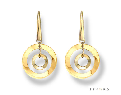 Tesoro Yellow Gold Dangle Earrings