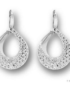 Tesoro White Gold Dangle Earrings