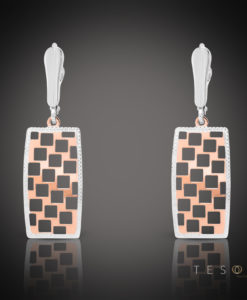 Tesoro Napoli Rose & White Gold Dangle Earrings