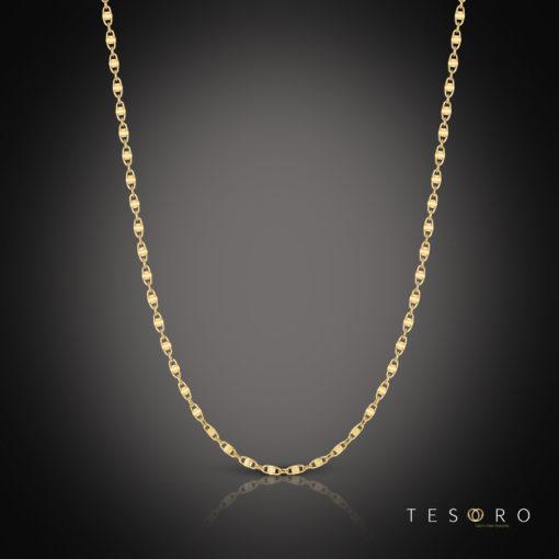 Tesoro Ierzu Yellow Gold Chain 65cm