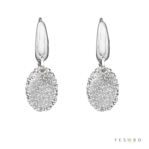Laviano White Gold Dangle Earrings