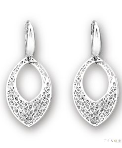 Pagno White Gold Dangle Earrings