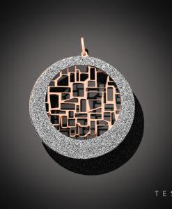 Tesoro Tocci Rose Coated Silver Pendant