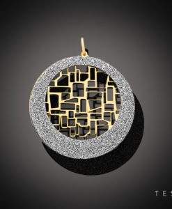 Tesoro Tuscania Yellow Coated Silver Pendant