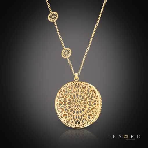 Tesoro Vigevano Silver Necklace