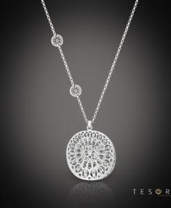 Tesoro Silver Necklace Vigevano