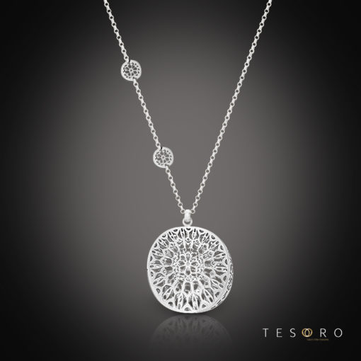 Tesoro Silver Necklace Vigevano