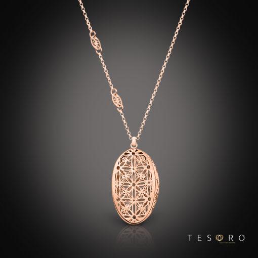 Tesoro Silver Pendant & Necklace Turin