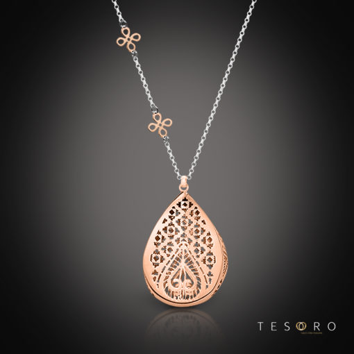Tesoro Lizzano Silver Necklace