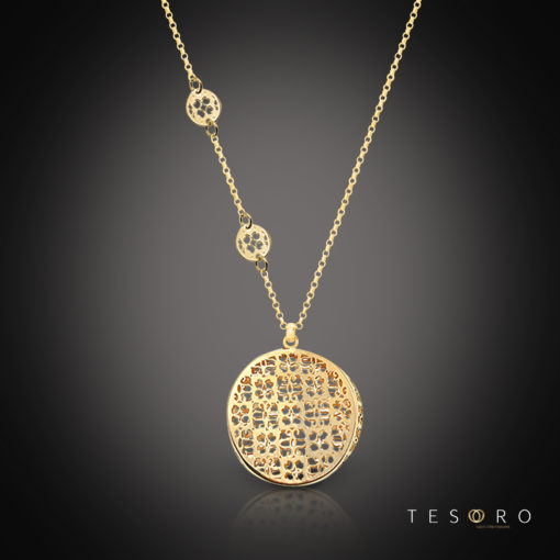 Tesoro Silver Necklace Cagliari
