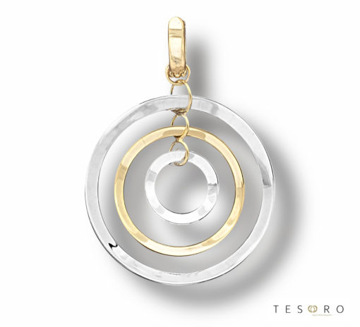 Tesoro Cabella Yellow & White Gold Pendant
