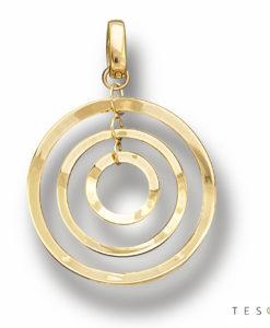 Tesoro Cabella Yellow Gold Pendant