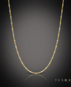 Tesoro Valentino Yellow Gold Chain 55cm