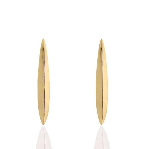 Tesoro Yellow Gold Dangle Earring