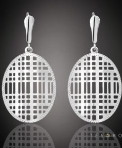 MANZONI Tesoro White Gold Dangle Earring