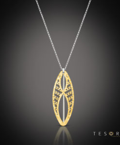 Tesoro White & Yellow Gold Pendant