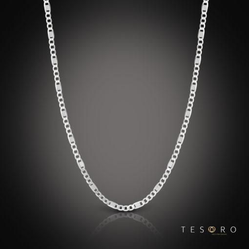 Tesoro Valentino White Gold Chain 65cm