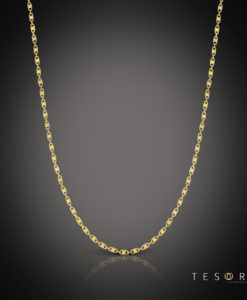 Tesoro Imperia Yellow Gold Chain 65cm