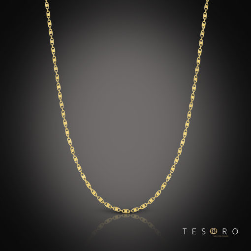 Tesoro Imperia Yellow Gold Chain 65cm