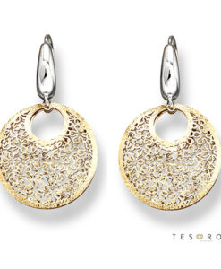 Tesoro Lerici Yellow & White Gold Dangle Earrings