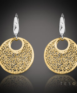 Tesoro Prato Gold Dangle Earrings