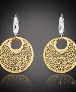 Tesoro Prato Gold Dangle Earrings