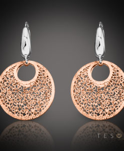 Prato Rose & White Gold Dangle Earrings 1