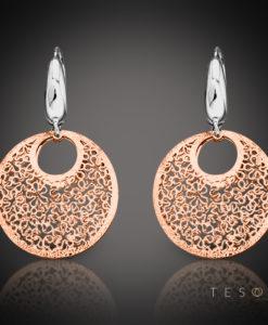 Prato Rose & White Gold Dangle Earrings 1