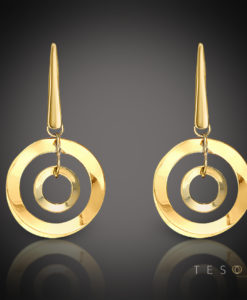 DOMICELLA GOLD DANGLE EARRINGS