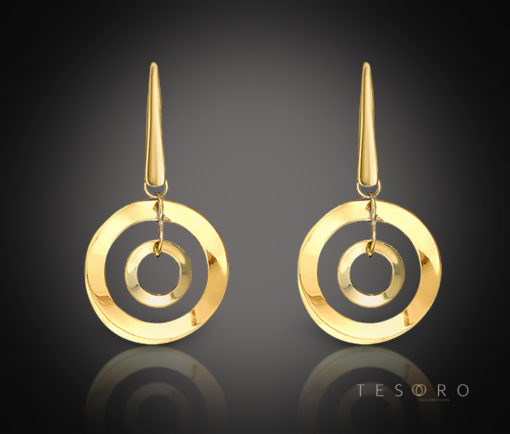 DOMICELLA GOLD DANGLE EARRINGS