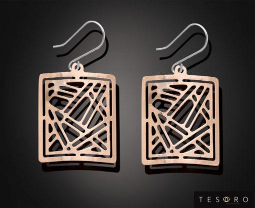 Tesoro Rose & White Gold Earrings 898.9E