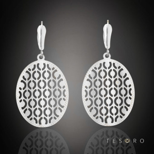 Torino White Gold Dangle Earrings