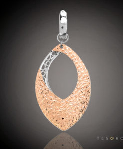 Lasa Rose & White Gold Pendant