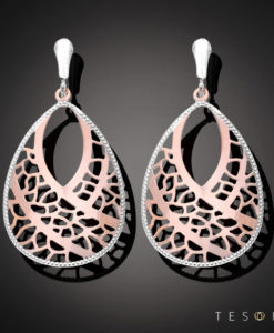 Tesoro Rose & White Gold Dangle Earring
