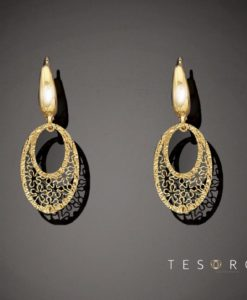 Lustra Yellow Gold Dangle Earrings