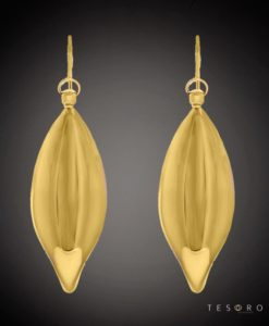 Trapani_Yellow Gold Dangle Earrings
