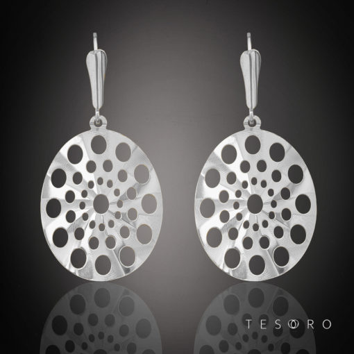 Tesoro White Gold Dangle Earrings