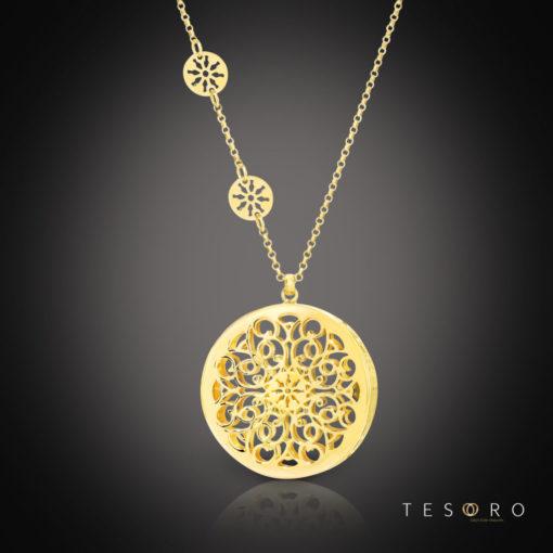 Tesoro Silver Pendant & Necklace
