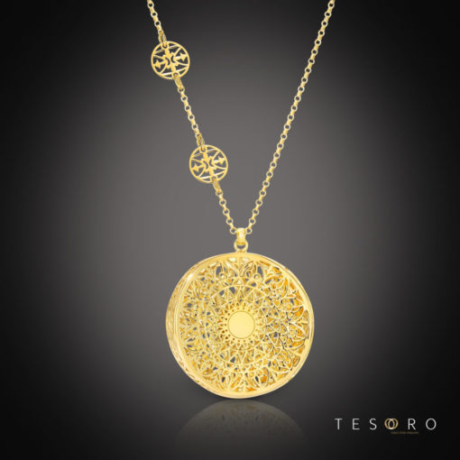 Tesoro Silver Pendant & Necklace Set