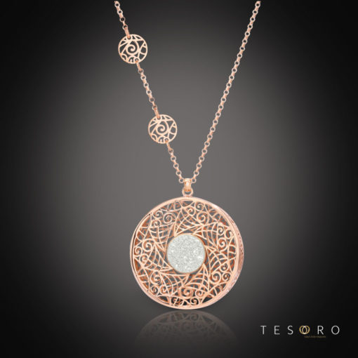 Tesoro Silver Pendant & Necklace Set