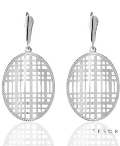 Manzoni White Gold Dangle Earrings