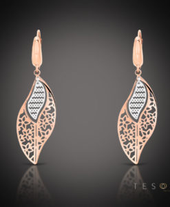 Tesoro Rose & White Gold Dangle Earrings