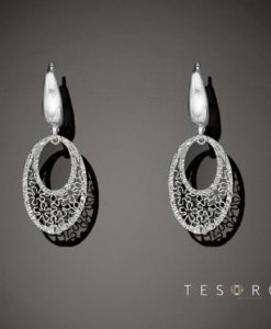 Lustra Tesoro White Gold Dangle Earrings